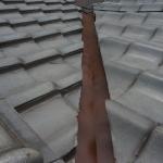 屋根谷樋塗装です