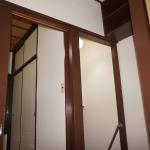 階段折口、木部塗装