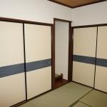 綿壁にクロス貼り・木部塗装、畳表替え