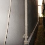 モルタル壁塗り直し後