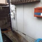 外付給湯器の取付け場所