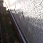 今回の外壁塗装の原因になった壁の剥離(塗膜下の水が浸入しモルタル壁が剥がれ落ちている)B