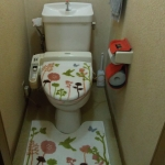 タンク式のトイレで、洗浄便座の操作盤トイレが狭くしずらかった。