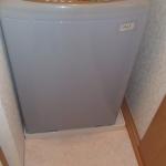 洗濯機置き場です。半畳ほど広くしたところに設けました。