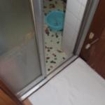 浴室とトイレの入り口の床