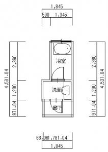 交野・荒川浴室改装-平面図(1階)