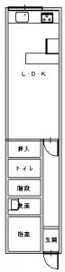生野区・田中前-平面図(1階)
