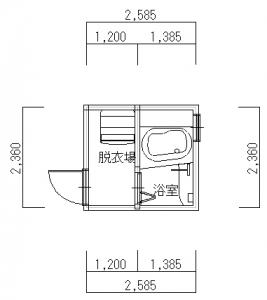 高槻・菊永・1218タイプ-平面図(1階)