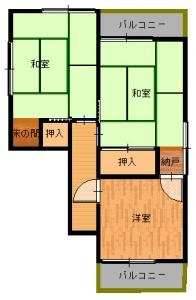 松原・大西工事前2・16-平面図(2階)