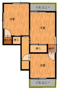 松原・大西工事後2・16寸法無し-平面図(2階)
