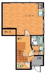 松原・大西工事後2・18寸法無しA-平面図(1階)A