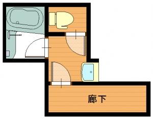 旭区・ユ・工事前-平面図(1階)