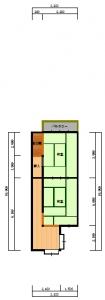 東住吉区・今岡・工事前2階-平面図(2階)