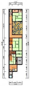 東住吉区・今岡・工事前-平面図(1階)