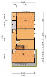 桂工事前-平面図(2階)