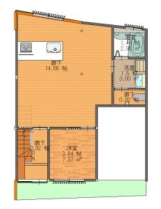 東淀川区・田上・S・最終11・18-平面図(1階)