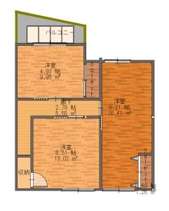東淀川区・田上・S・最終11・18-平面図(2階)