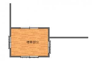 桑原邸増築工事後-平面図(1階)