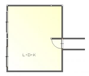 ナラン後-平面図( 1  階)