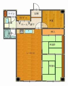 椚田邸工事前-平面図( 1  階)